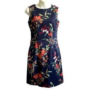 GANT Navy Floral Sleeveless Sheath Dress